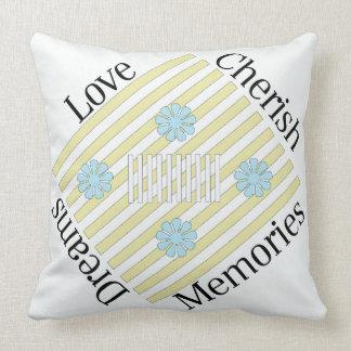 L'amour, aiment, des rêves, carreau de souvenirs coussin décoratif