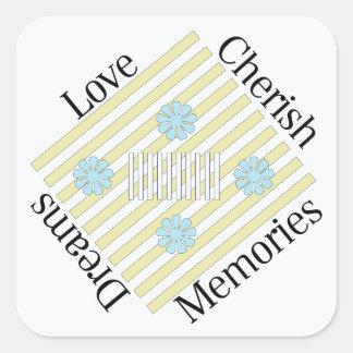 L'amour, aiment, des souvenirs, et rêvent des sticker carré