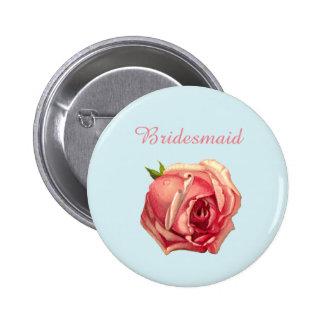 L'amour brasse : Bouton de demoiselle d'honneur de Badges