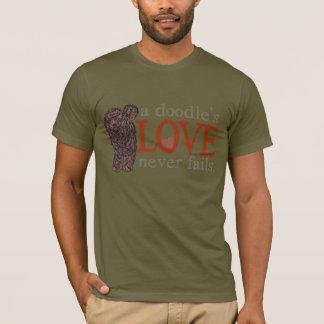 L'amour de griffonnage n'échoue jamais - le t-shirt