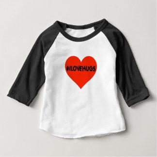 L'amour de Hashtag I étreint le coeur mignon de T-shirt Pour Bébé