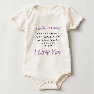 L'amour de la barboteuse de bébé