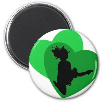 L'amour de la danse d'Irlandais Magnet Rond 8 Cm