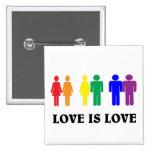L'amour de LGBT est amour Badges Avec Agrafe