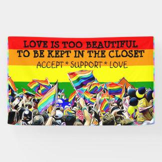 L'amour de LGBT est belle BANNIÈRE d'arc-en-ciel