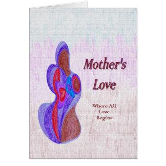 L'amour de mère cartes de vœux