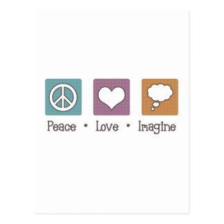 L'amour de paix imaginent carte postale
