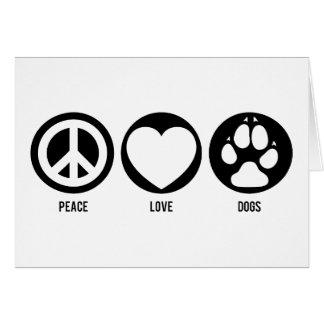 L'amour de paix poursuit la carte de note