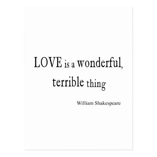 L'amour de William Shakespeare est merveilleux et Carte Postale