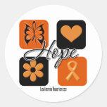 L'amour d'espoir de leucémie inspirent la autocollant rond