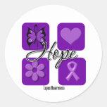 L'amour d'espoir de lupus inspirent la conscience autocollant rond