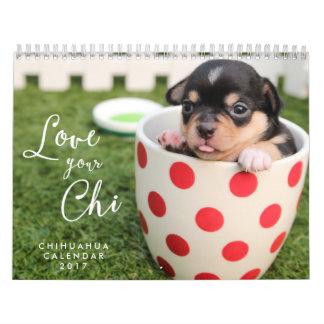 L'amour du calendrier 2017 de chiwawa votre Chi
