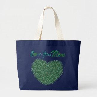 L'amour du jour de mère vous maman avez décoré des sac en toile jumbo