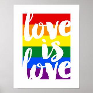 L'amour est affiche de motivation de gay pride