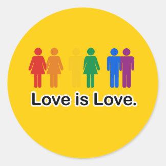 L'amour est amour adhésifs ronds