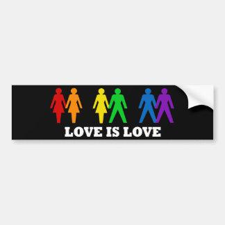 L'amour est amour autocollant de voiture