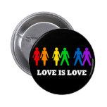 L'amour est amour badges avec agrafe