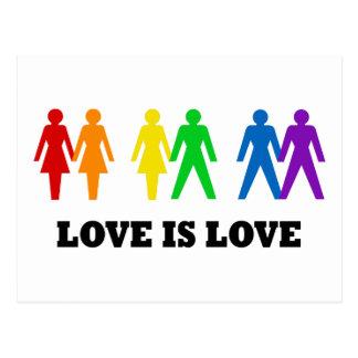 L'amour est amour carte postale