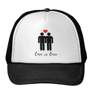 L'amour est amour (les hommes) + Coeur Casquettes