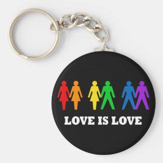 L'amour est amour porte-clé rond