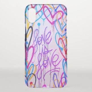 L'amour est cas rare de l'iPhone X d'amour Coque iPhone X