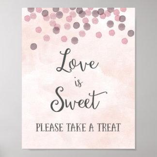 L'amour est copie douce d'affiche de mariage posters