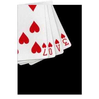 L'amour est dans la carte de voeux de cartes