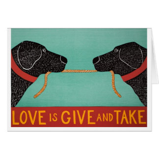 L'amour est des concessions mutuelles-- cardez par carte de vœux