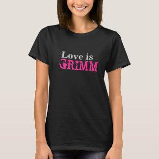 L'amour est Grimm T noir + De Hashtag dos dessus T-shirt