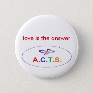 L'amour est le bouton de réponse pin's