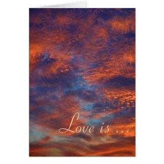 L'amour est patient, amour est - carte - modèle