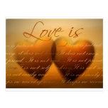 L'amour est patient ; l'amour est aimable carte postale