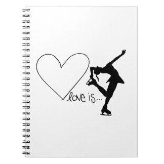L'amour est patinage artistique, patineur de fille carnet