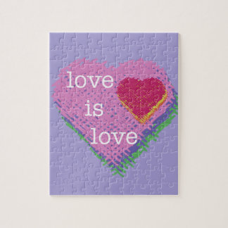 l'amour est puzzle de coeur d'amour