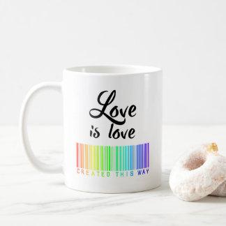 L'amour est tasse de café d'amour a créé de cette