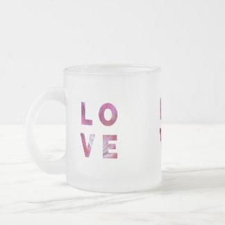 l'amour est tout autour tasse givré