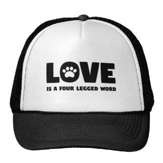 L'amour est un mot quatre à jambes casquettes de camionneur