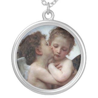 L'Amour et Psyché, Enfants - William Bouguereau Pendentif Rond