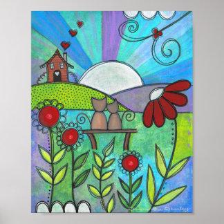 L'amour fleurit - art de mur d'enfants de fleurs posters