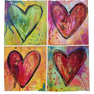 L'amour gagne le rideau en douche d'art de MaryLea