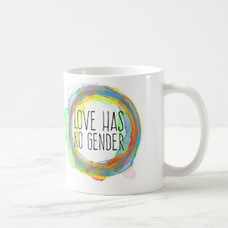 L'amour n'a aucun genre mug blanc