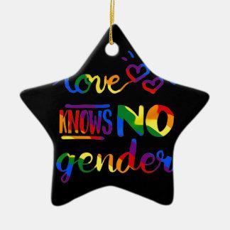 L'amour ne sait aucun genre ornement étoile en céramique