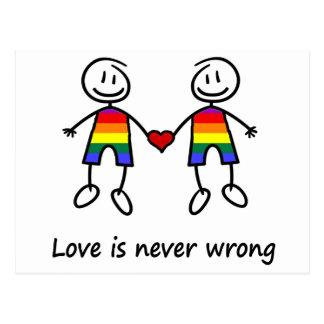 L'amour n'est jamais erroné carte postale