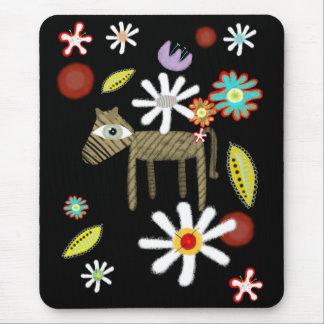 L'amour occidental de cheval fleurit Mousepad trop Tapis De Souris