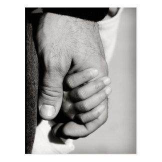 L'amour protecteur de confiance d'un père carte postale
