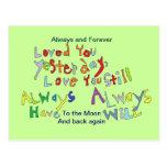 L'amour que vous cardez carte postale