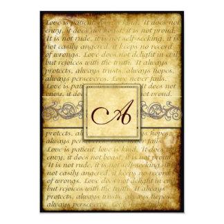 L'amour rustique est les invitations vintages