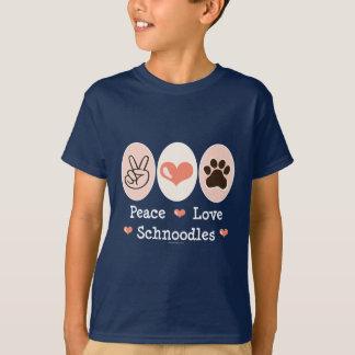 L'amour Schnoodles de paix badine le T-shirt