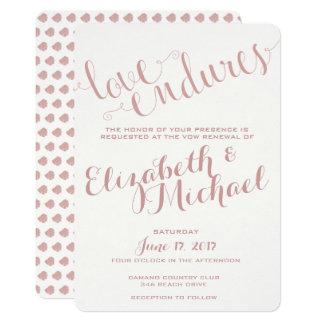 L'amour supporte Champagne rougissent anniversaire Carton D'invitation 12,7 Cm X 17,78 Cm