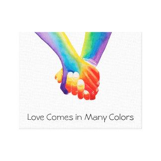 L'amour vient dans la copie de toile de beaucoup